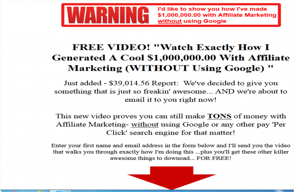 Internet Marketing Scam